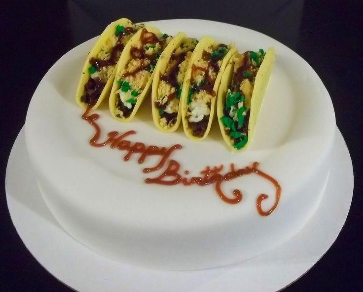 12 Cakes Shaped Like A Taco Photo Taco Cake Taco Birthday Cake