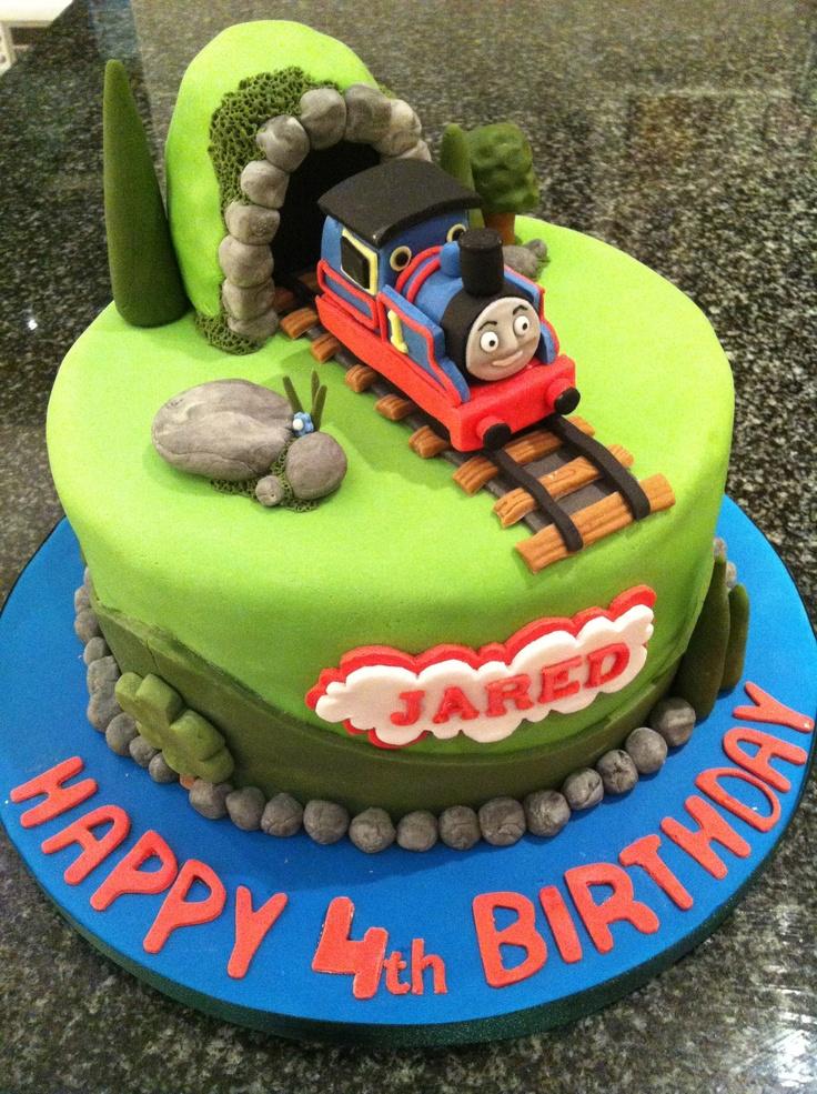 13 Thomas Bday Cakes Photo Thomas Train Birthday Cake Thomas Tank