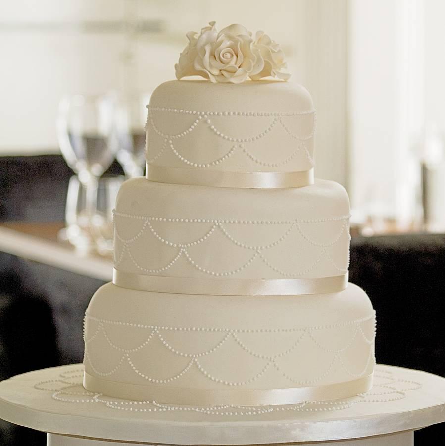 11 3 Tier Round Wedding Cakes With Swags Photo - 4 Tier Wedding Cake ...