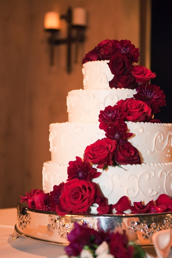 13 Wedding Cakes With Red Flowers Photo Wedding Cake With Red