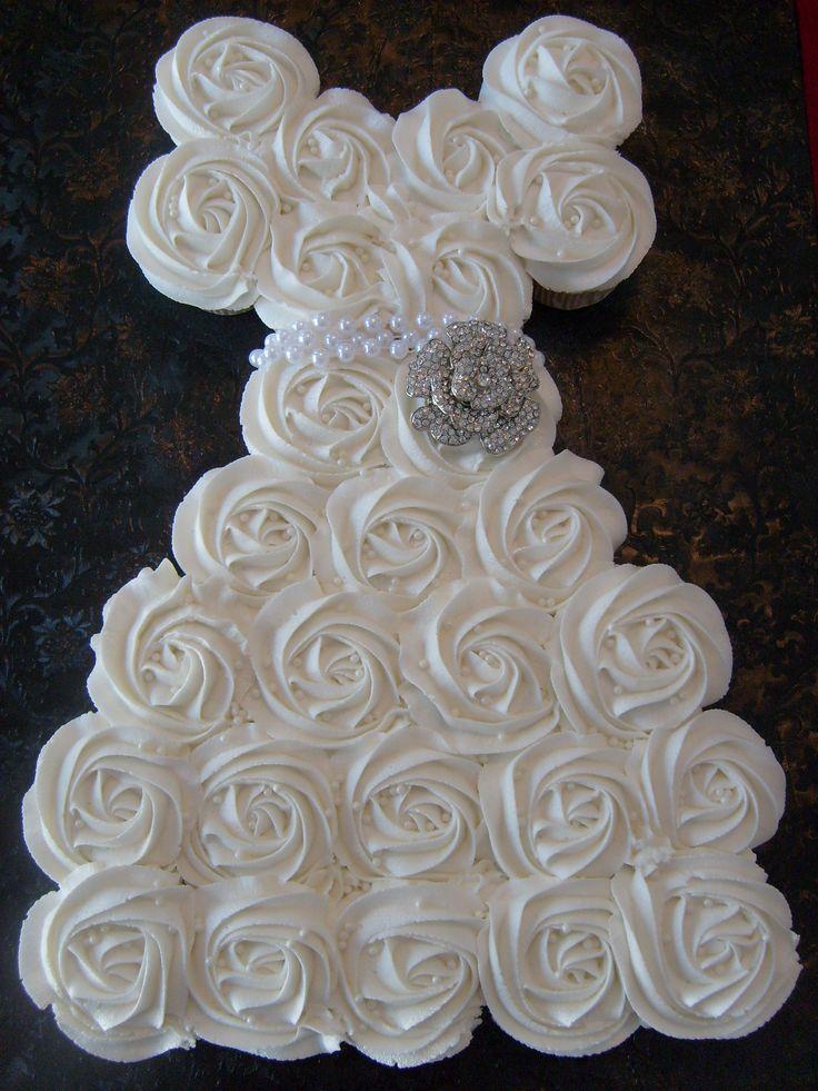 wedding shower pull apart cupcakes