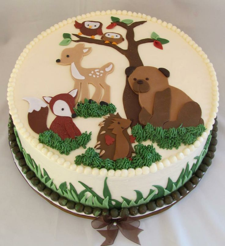 11 Forest Animals Baby Shower Cakes For Baby Photo Woodland