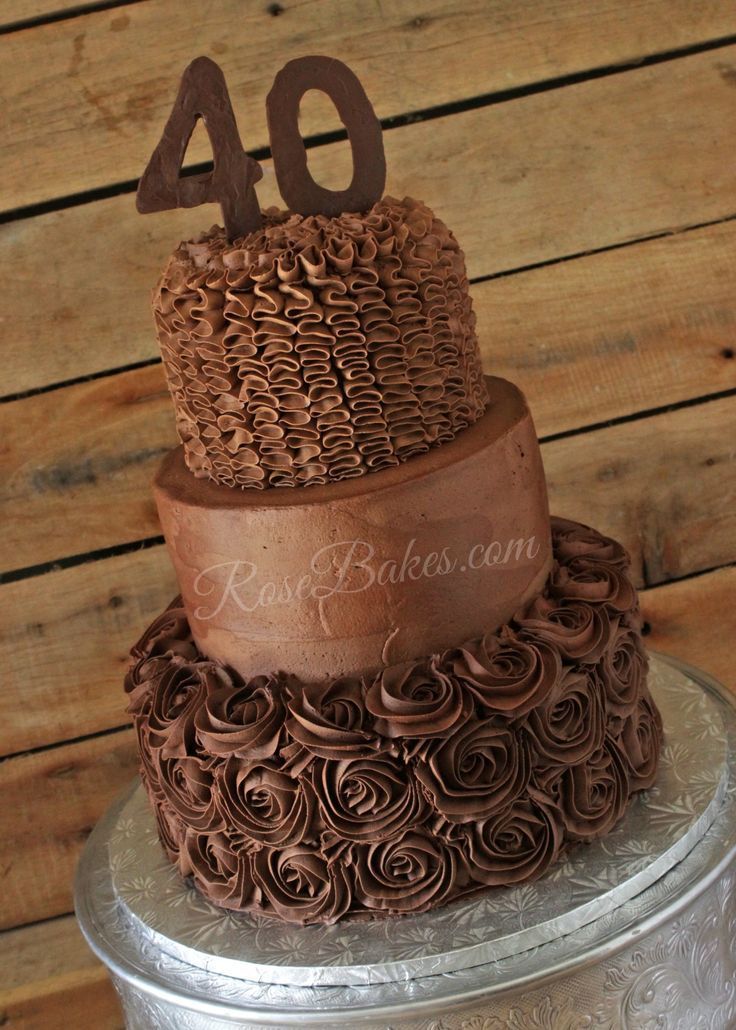 Enjoyable 9 Chocolate Buttercream Birthday Cakes For Women Photo 40Th Personalised Birthday Cards Petedlily Jamesorg