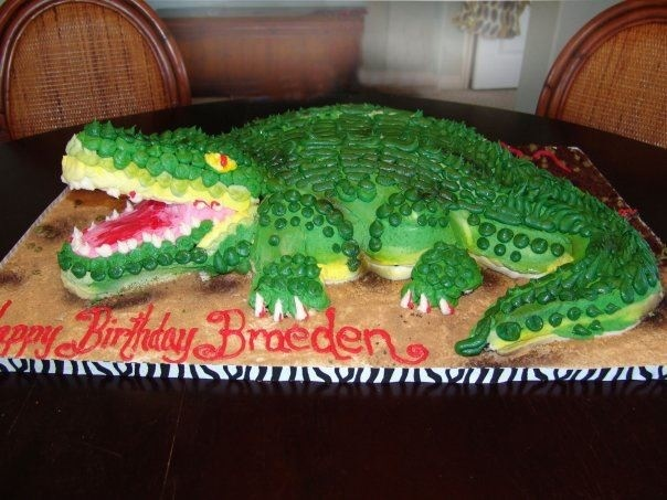 Brilliant 10 Alligator Girl Cakes Photo Florida Gators Birthday Cake Funny Birthday Cards Online Alyptdamsfinfo