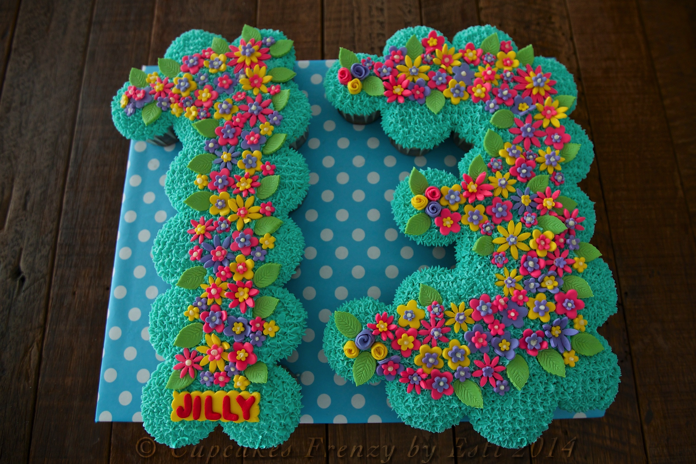 Birthday Pull Apart Cupcake Cakes Numbers