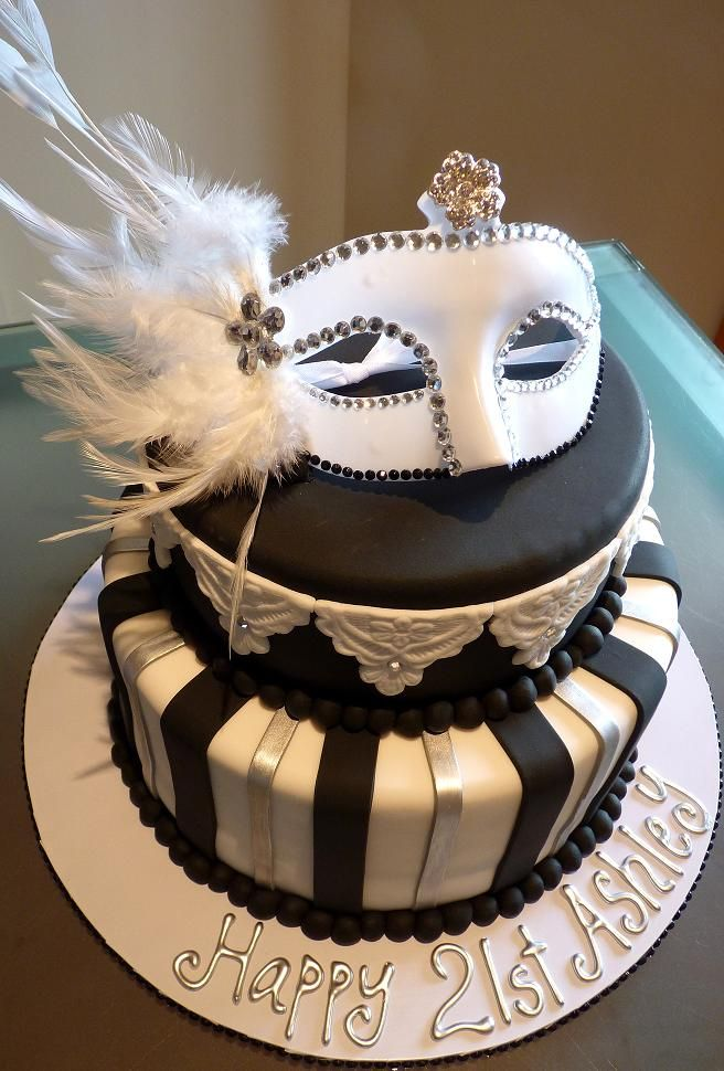 Stupendous 12 Sophisticated Birthday Cakes Silver Mask Photo Black And Funny Birthday Cards Online Alyptdamsfinfo
