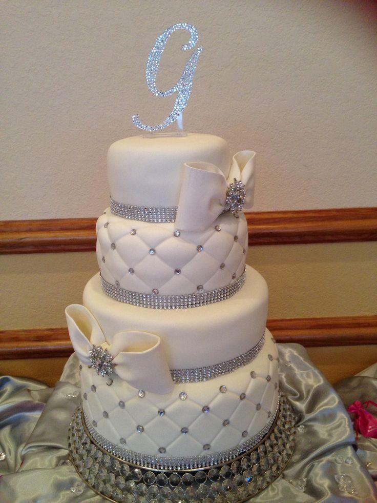 10 Bling Wedding Cakes Corvettes Photo - Bling Wedding Cake with ...
