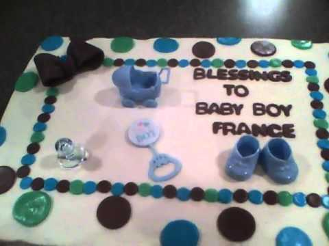 Simple Boy Baby Shower Cakes ~ Flat sheet cakes for baby showers photo girl baby shower