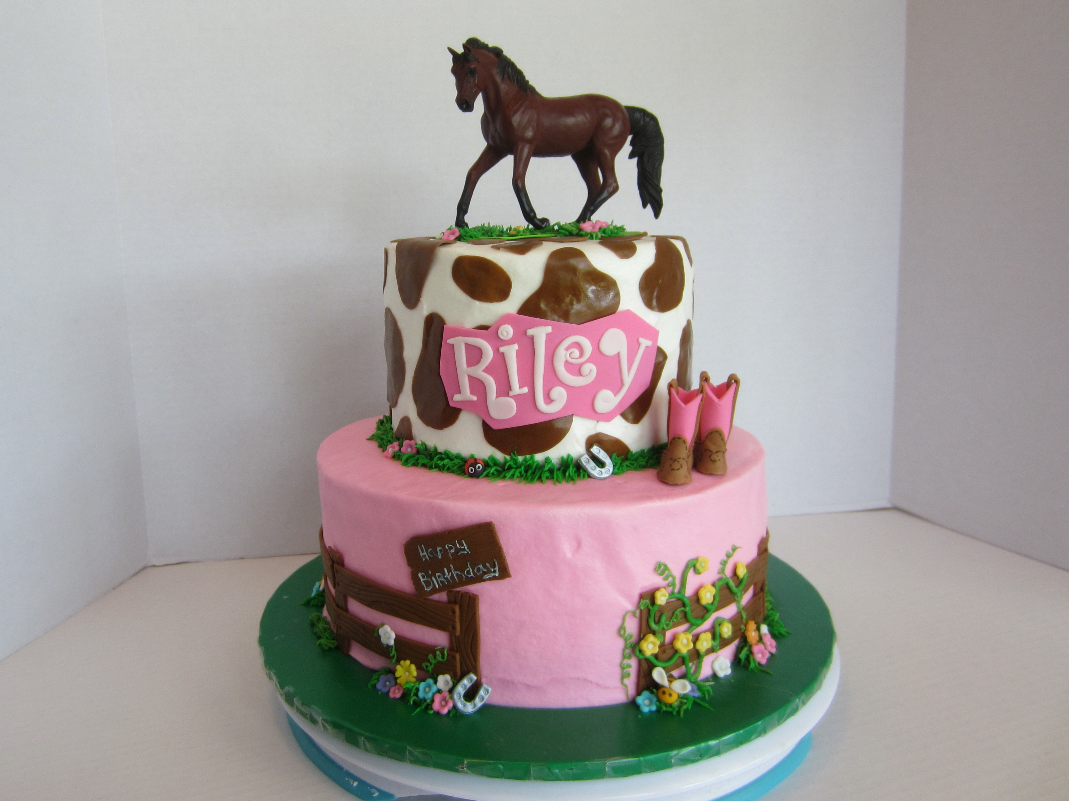 Cowgirl Horse Birthday Cakes For Girls