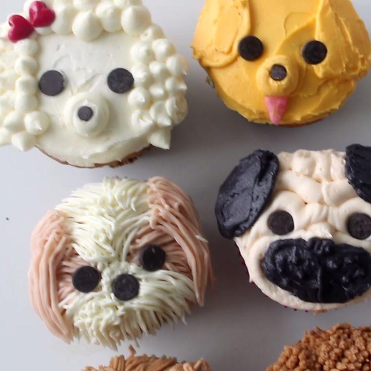 12 Dog Design Cupcakes Photo Dog Cupcake Decorating Ideas Puppy