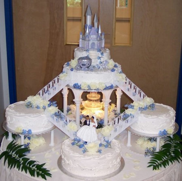 9 Malibu Blue Wedding Cakes With Fountains Photo Malibu Blue
