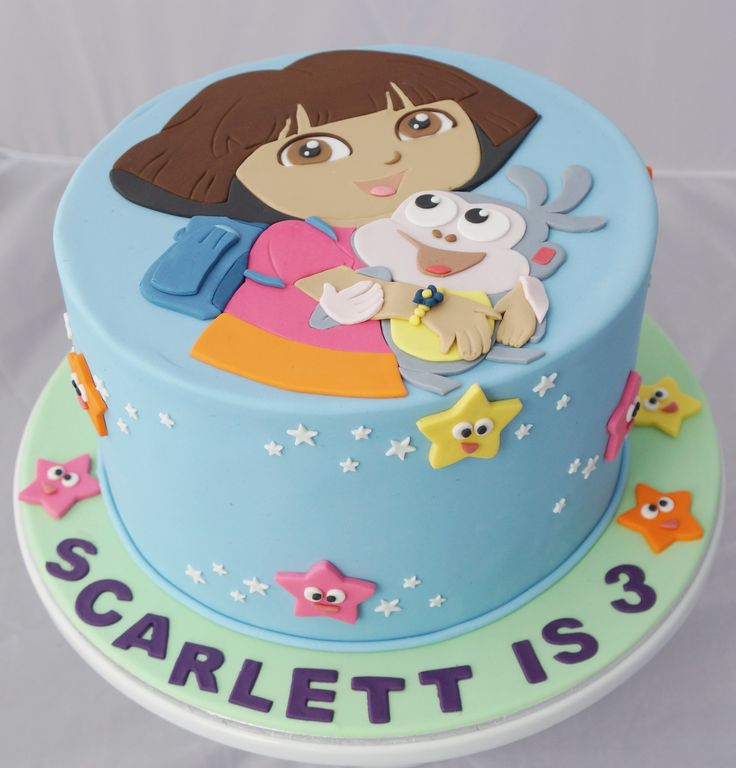 Stupendous 10 Dora Birthday Cakes Cool Photo Dora The Explorer Birthday Funny Birthday Cards Online Alyptdamsfinfo