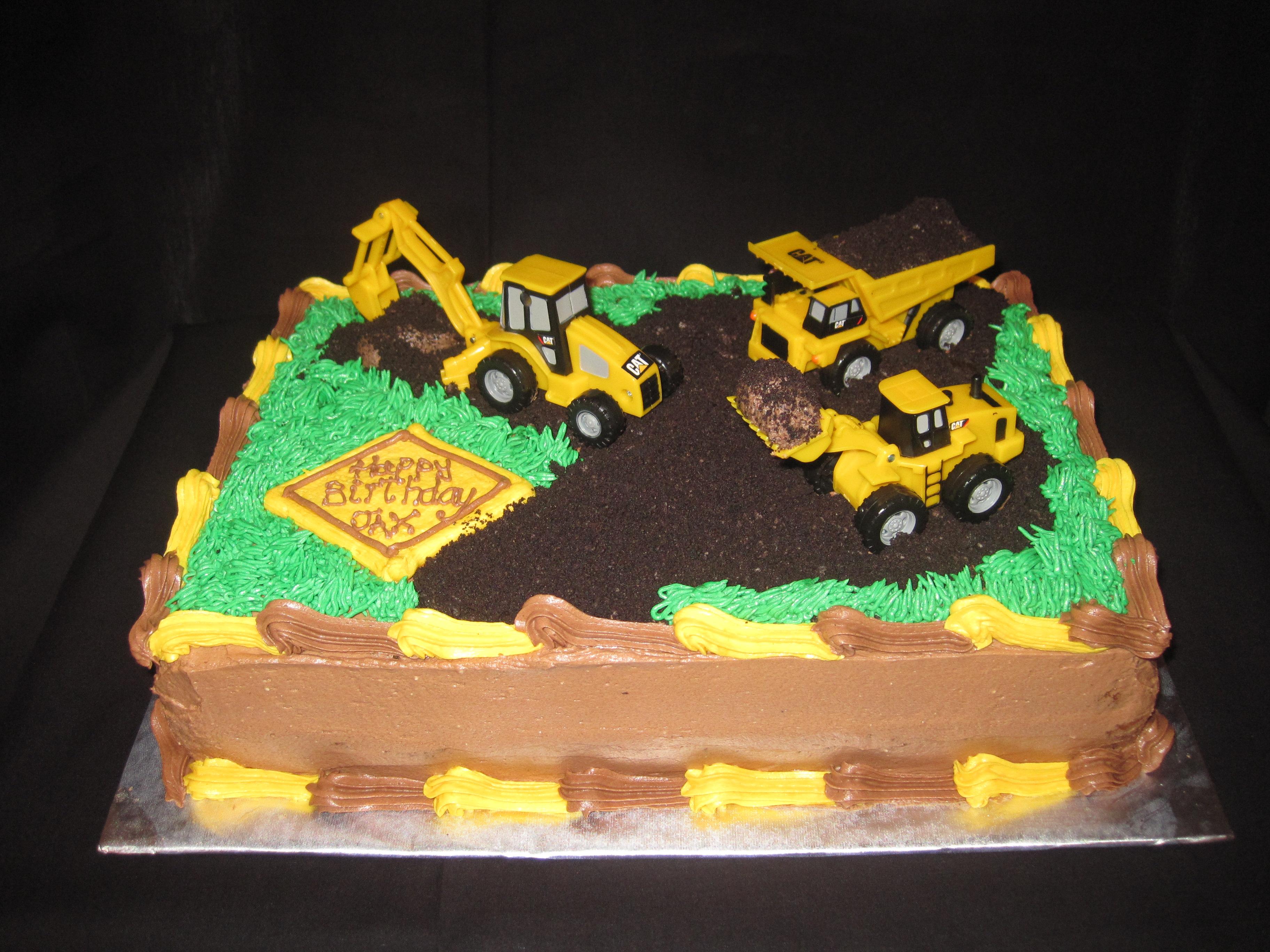 Sensational 12 Boy Birthday Cakes Ideas With Trucks Photo Dump Truck Funny Birthday Cards Online Necthendildamsfinfo