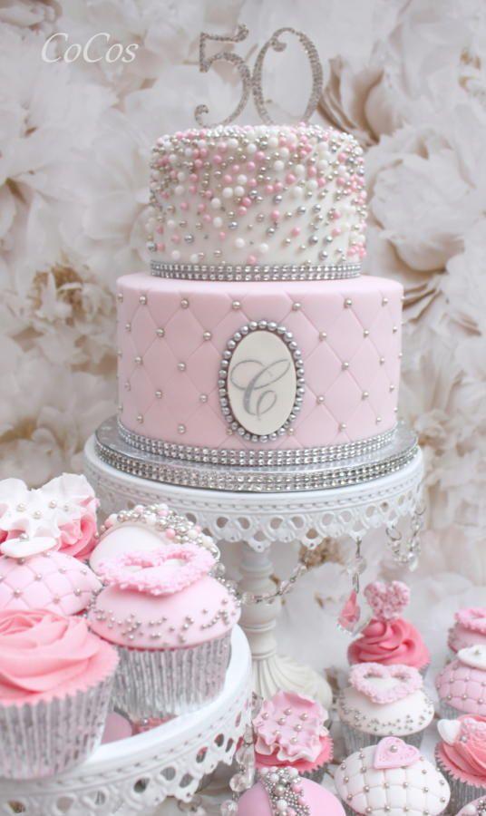 11 Pink And Gold Elegant Birthday Cakes Photo Elegant Birthday
