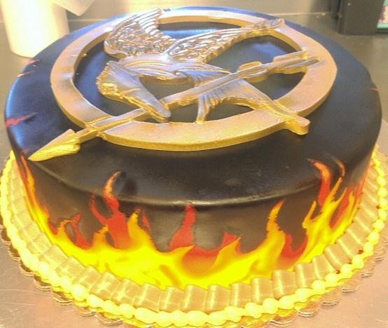 Strange 13 Hunger Games Catching Fire Birthday Cakes For Girls Photo Funny Birthday Cards Online Elaedamsfinfo