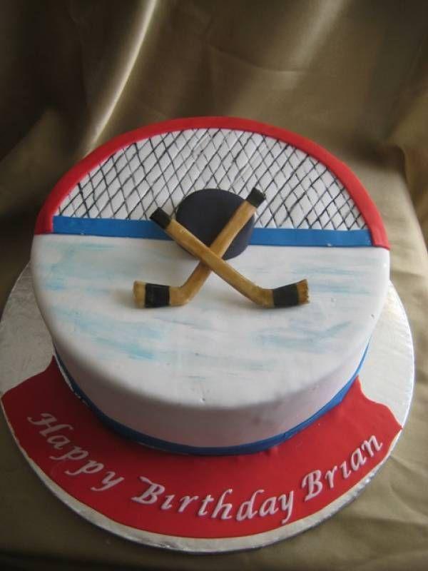 Phenomenal 11 Hockey Boys Birthday Cakes Photo Hockey Birthday Cake Hockey Funny Birthday Cards Online Benoljebrpdamsfinfo