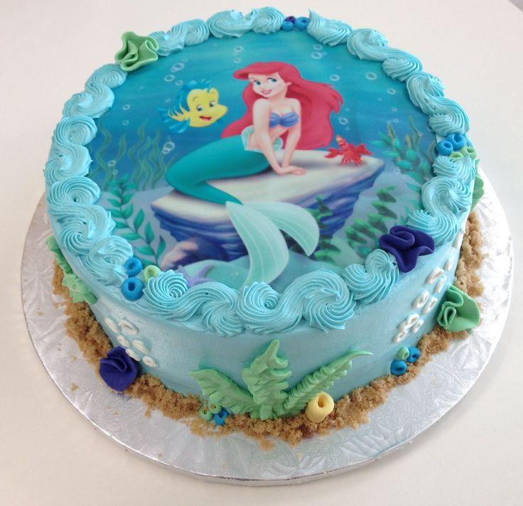 9 Little Mermaid Birthday Cakes Girls Photo Mermaid Birthday Cake