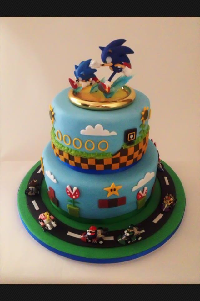 Marvelous 12 Sonic Birthday Cakes Blue Photo Sonic Birthday Cake Sonic Personalised Birthday Cards Xaembasilily Jamesorg