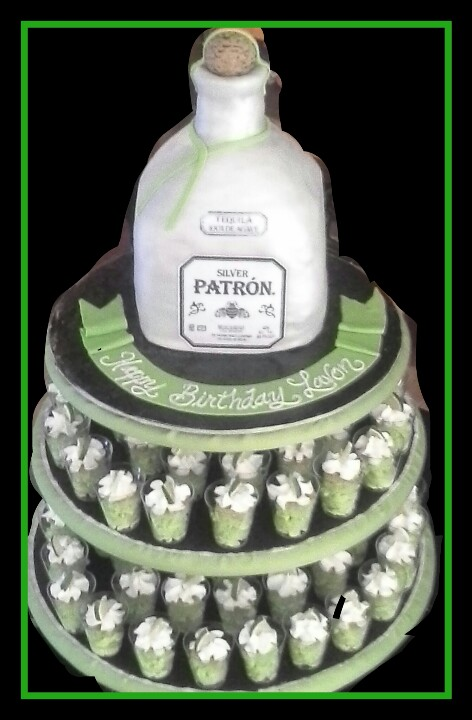Sensational 8 Tequila Shots Cakes Photo Patron Birthday Cake Shots Personalised Birthday Cards Veneteletsinfo