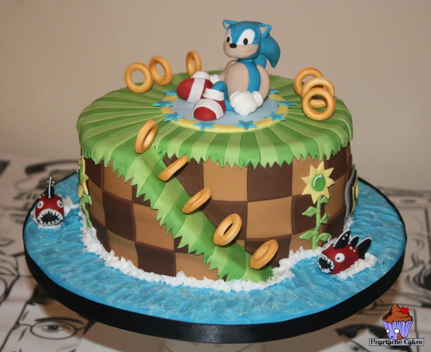 Remarkable 12 Sonic Birthday Cakes Blue Photo Sonic Birthday Cake Sonic Funny Birthday Cards Online Barepcheapnameinfo