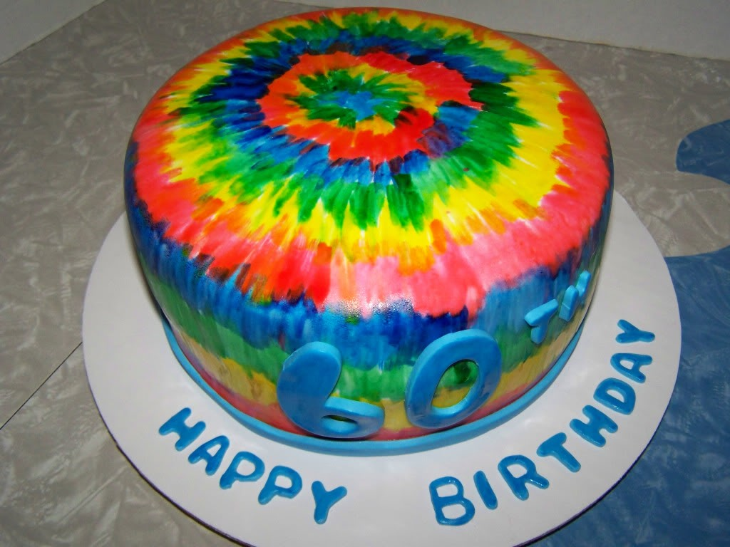 Awesome 13 Birthday Cakes Tie Dyed Photo Tie Dye Cake Designs Tie Dye Personalised Birthday Cards Paralily Jamesorg