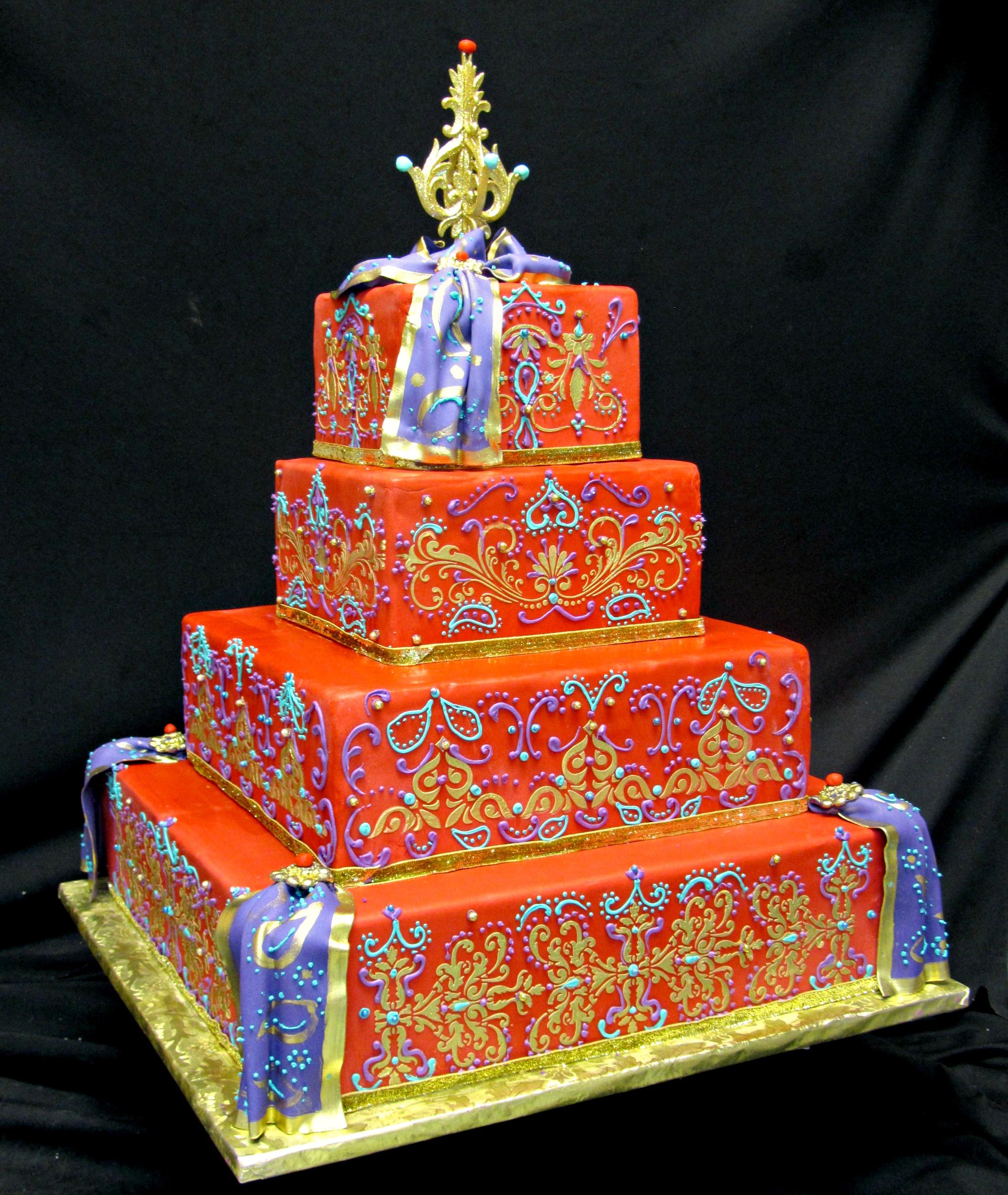 11 Wedding Cakes From India Photo Indian Wedding Cake Indian