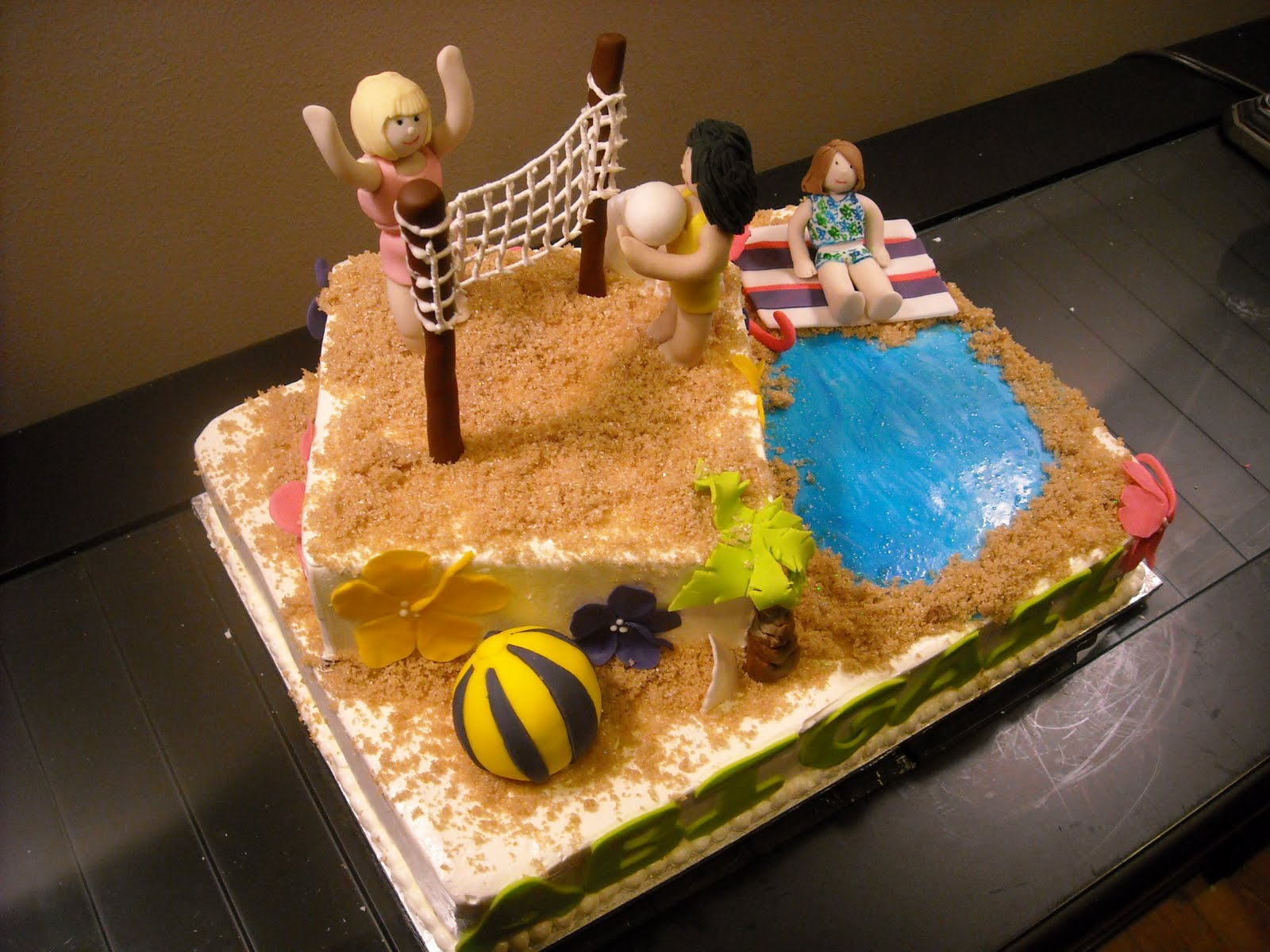 Surprising 12 Albertsons Volleyball Cakes Photo Volleyball Fondant Cake Personalised Birthday Cards Beptaeletsinfo