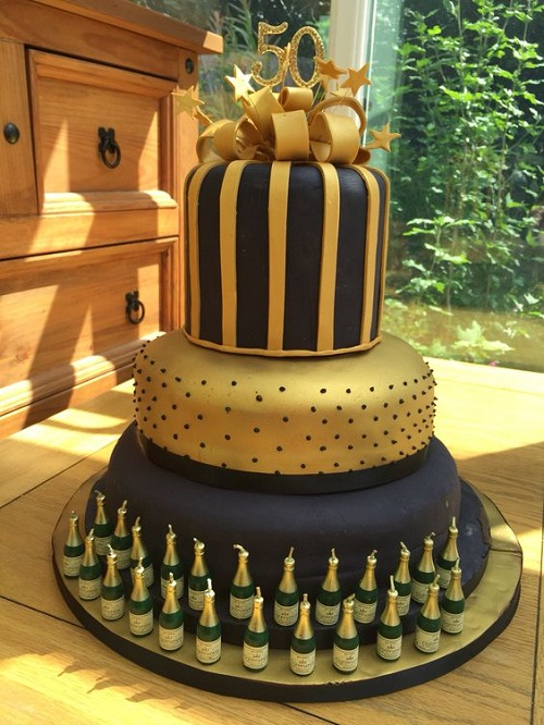 Black And Gold 50th Birthday Cake Ideas