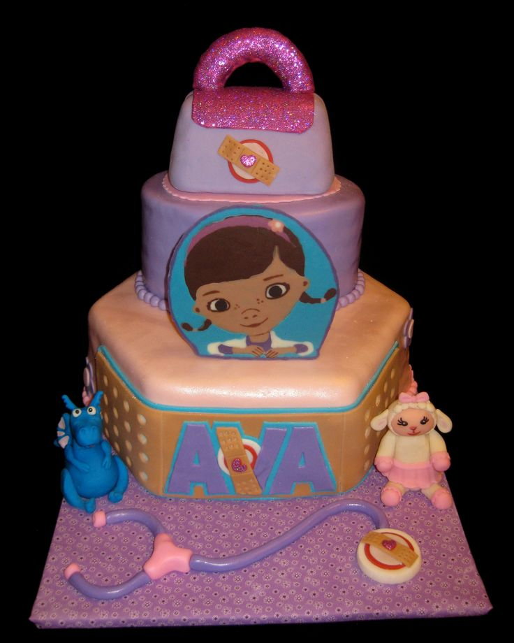 Tremendous 10 Dr Mcstuffins Cakes Photo Dr Mcstuffin Birthday Cake Doc Personalised Birthday Cards Bromeletsinfo