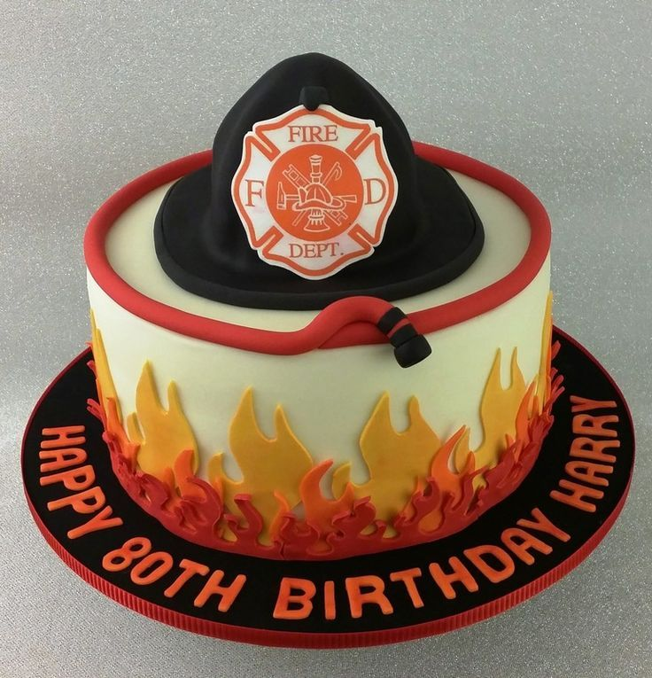 11 Firefighter Theme Birthday Cakes Photo Fire Department Birthday