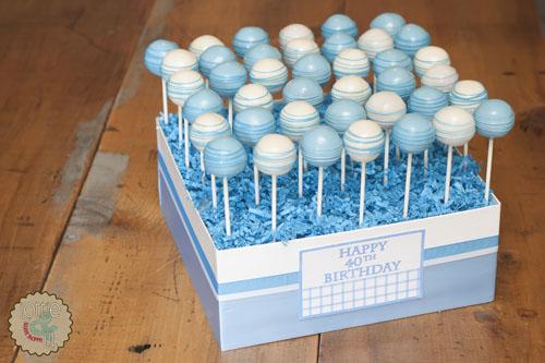 Pleasant 11 Cake Pop Birthday Cakes For Boys Photo Happy 40Th Birthday Personalised Birthday Cards Cominlily Jamesorg