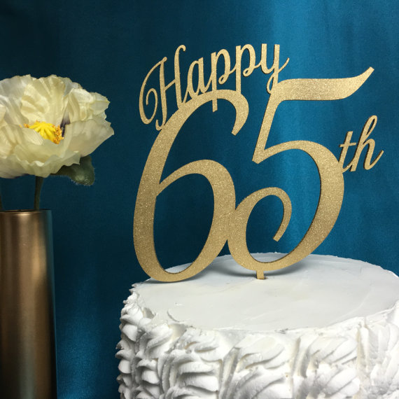 Happy 65th Birthday Cake Topper