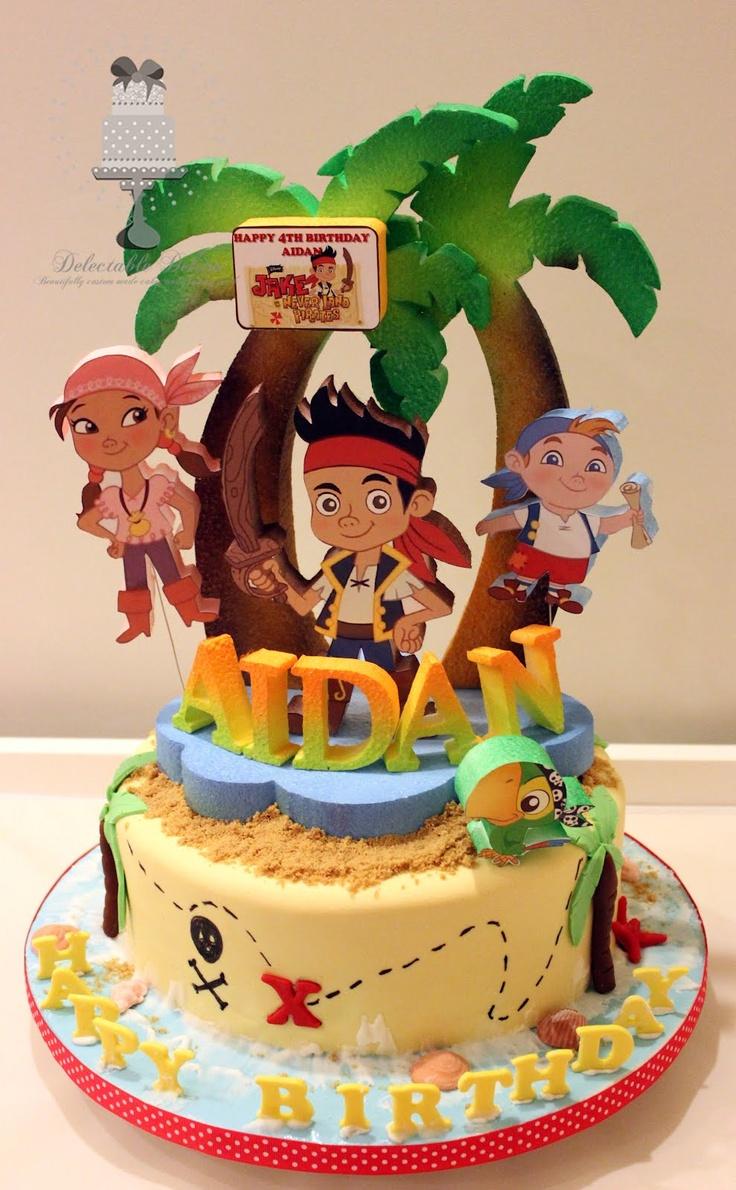 12 Jake And Pirates Birthday Cakes Photo Jake And Neverland