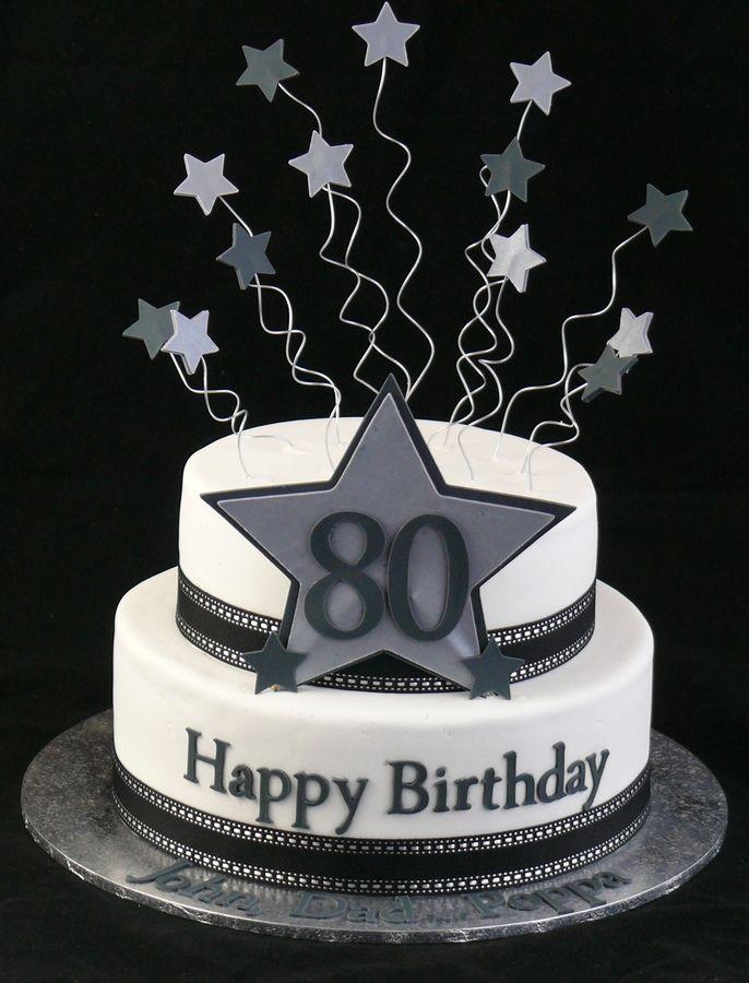 Sensational 11 80Th Birthday Cakes For Men Photo 80Th Birthday Cake 80Th Personalised Birthday Cards Sponlily Jamesorg