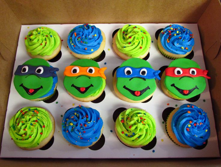 Phenomenal 13 Teenage Mutant Ninja Turtles Cupcakes Photo Ninja Turtle Personalised Birthday Cards Petedlily Jamesorg
