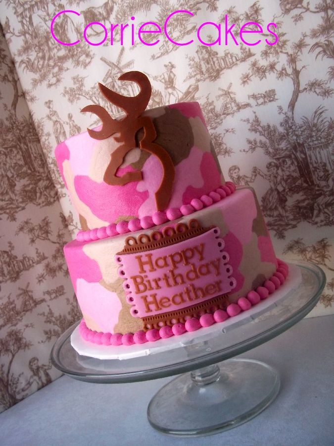 Fine 11 Camo Birthday Cakes Two Tier Photo Pink Camo Browning Cake Funny Birthday Cards Online Overcheapnameinfo