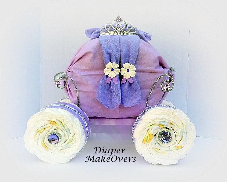 Diy Princess Carriage Diaper Cake Diy Campbellandkellarteam