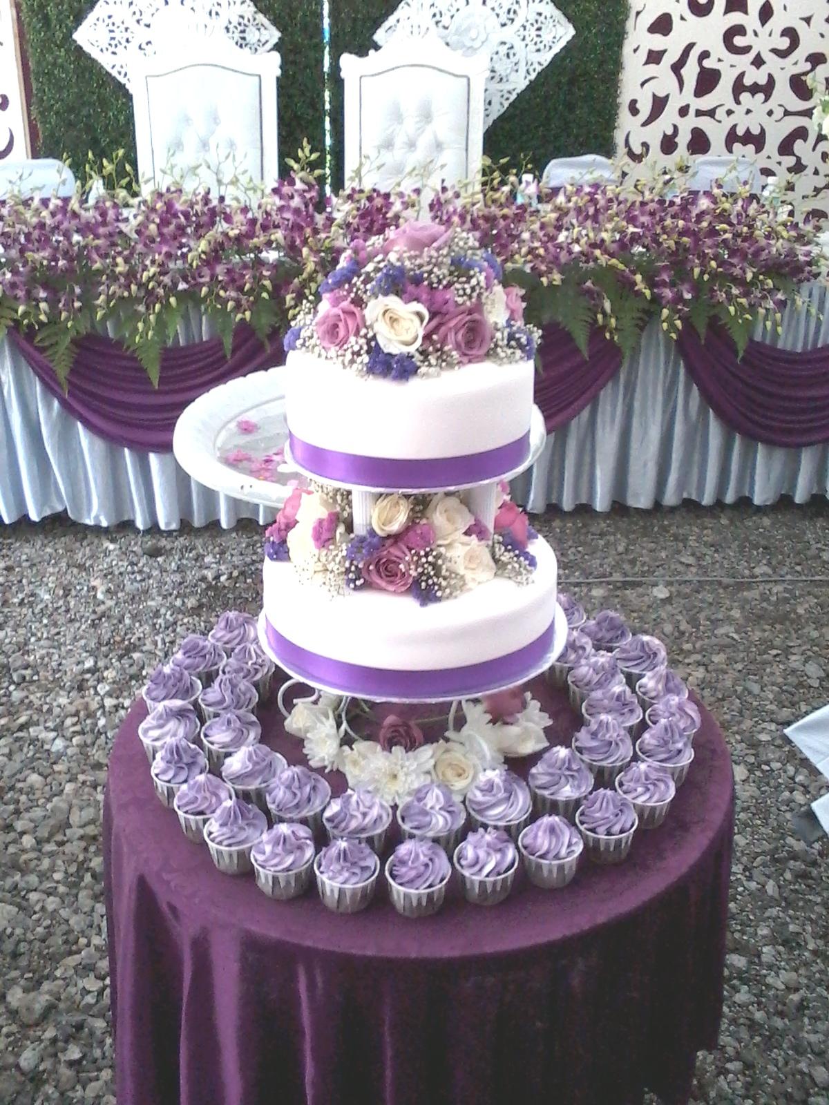 10 Wedding Cakes Purple Theme Cupcakes Photo Purple And Silver