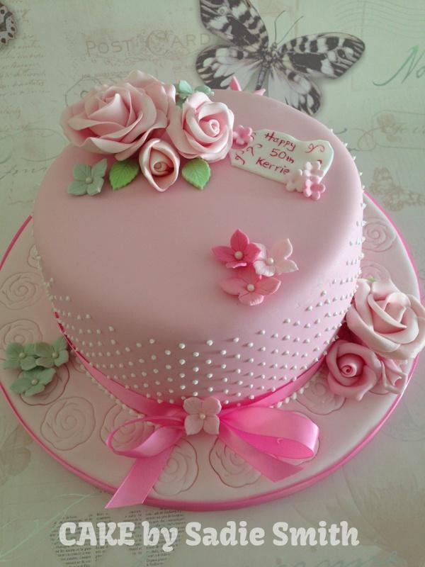 11 Girls Birthday Cakes With Roses Photo Girls 5th Birthday Cake