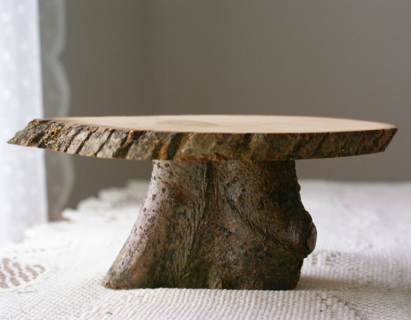 11 Wooden Cake Stands For Wedding Cakes Photo Rustic Wood Cake