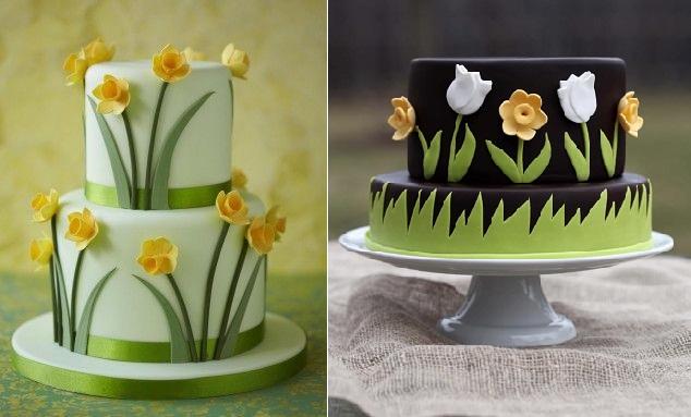 11 Spring Flower Cakes Ideas Photo Edible Flower Cake Spring