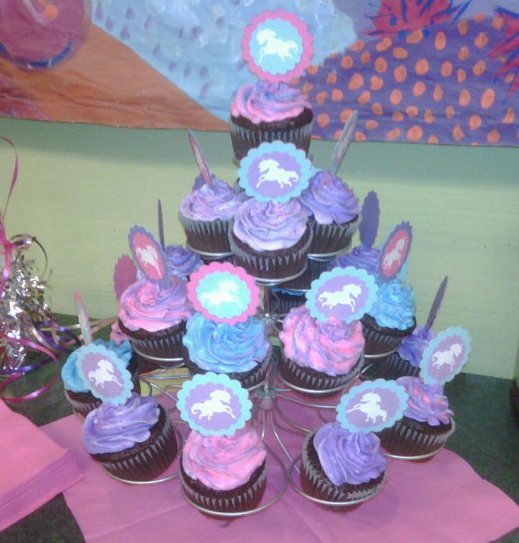 Unicorn Birthday Party Cupcakes