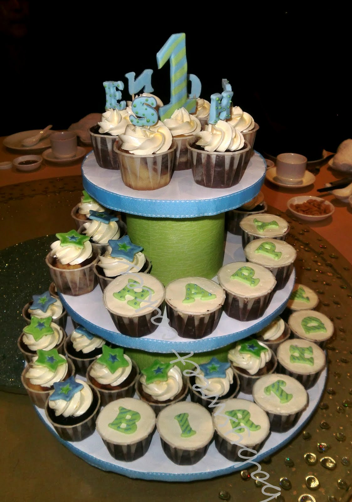 9 Cupcake Cakes For 1 Year Old Boys Photo 1 Year Old Boy Birthday