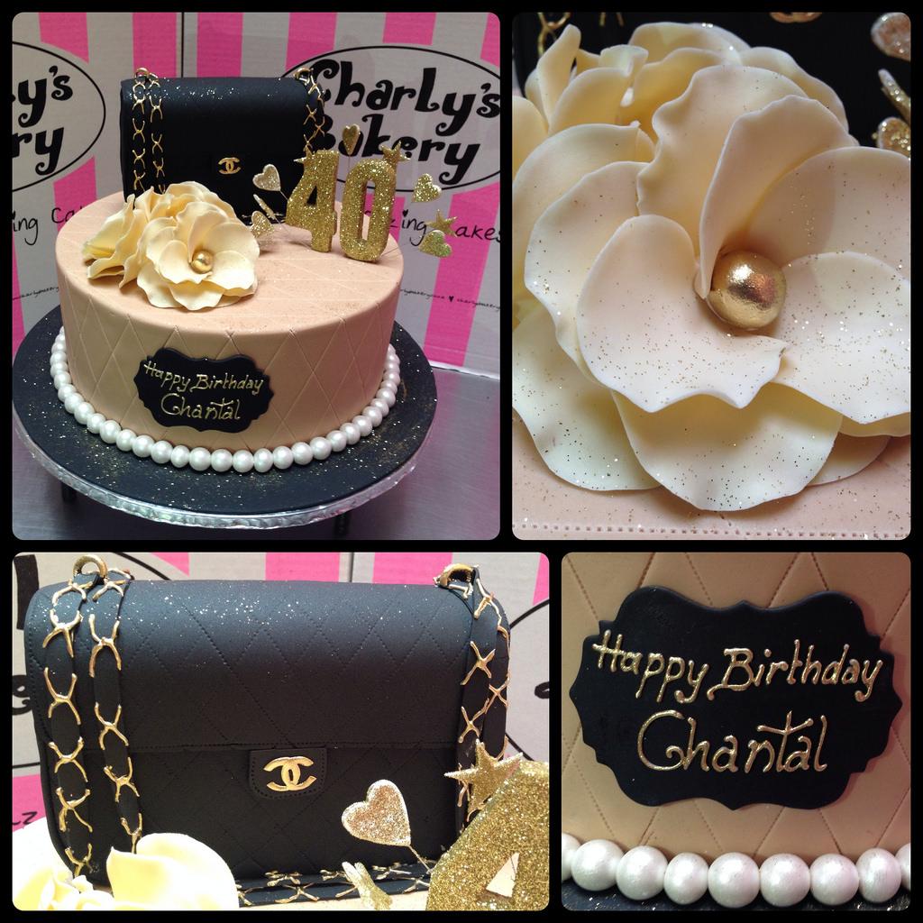 40th Birthday Fondant Cake