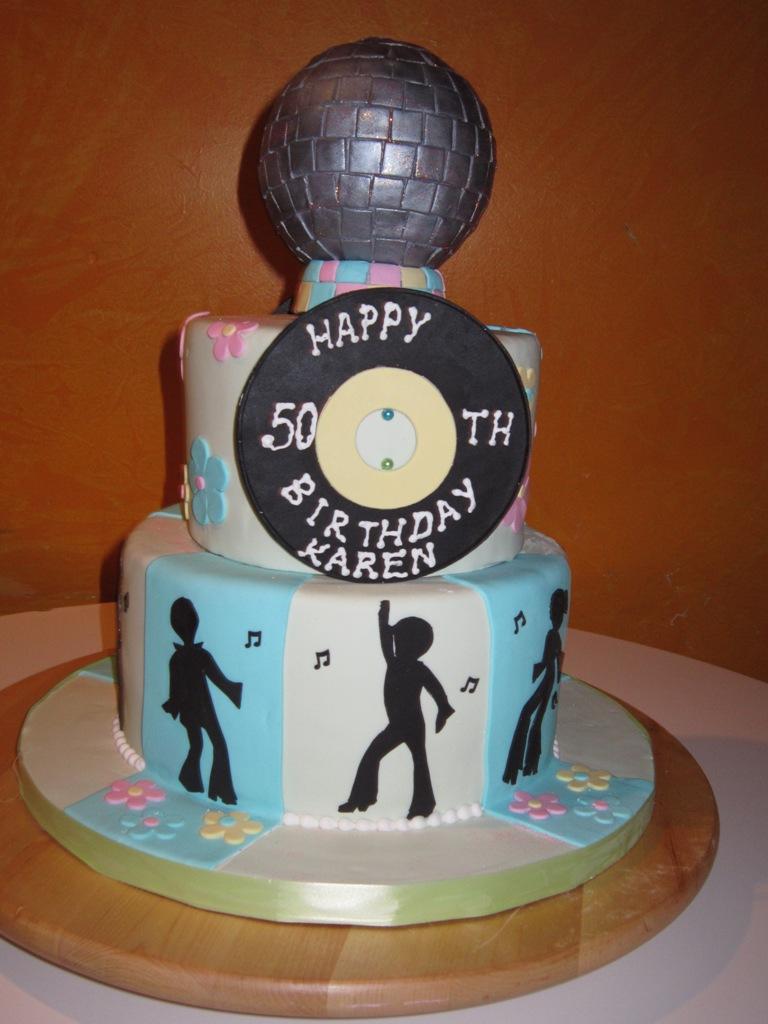 5 70 Theme Birthday Cakes Photo Disco Birthday Party Cake Ideas