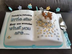 Baby Shower Cake Twinkle Little Star Book