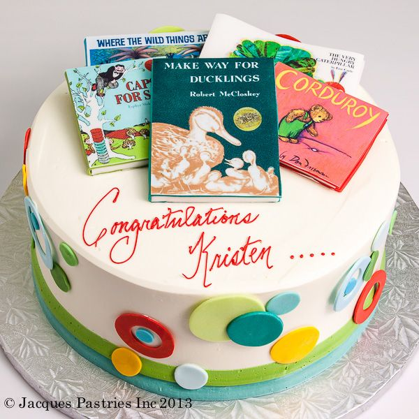 Childrenu0027s Books Baby Shower Cake