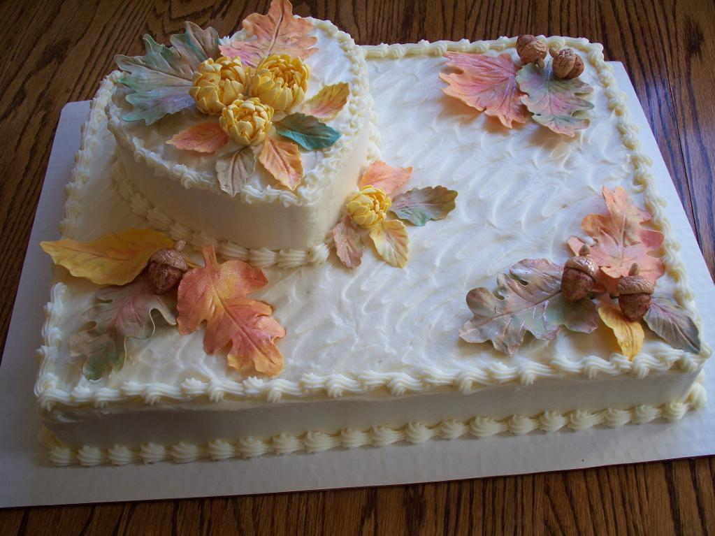 fall bridal shower sheet cake ideas