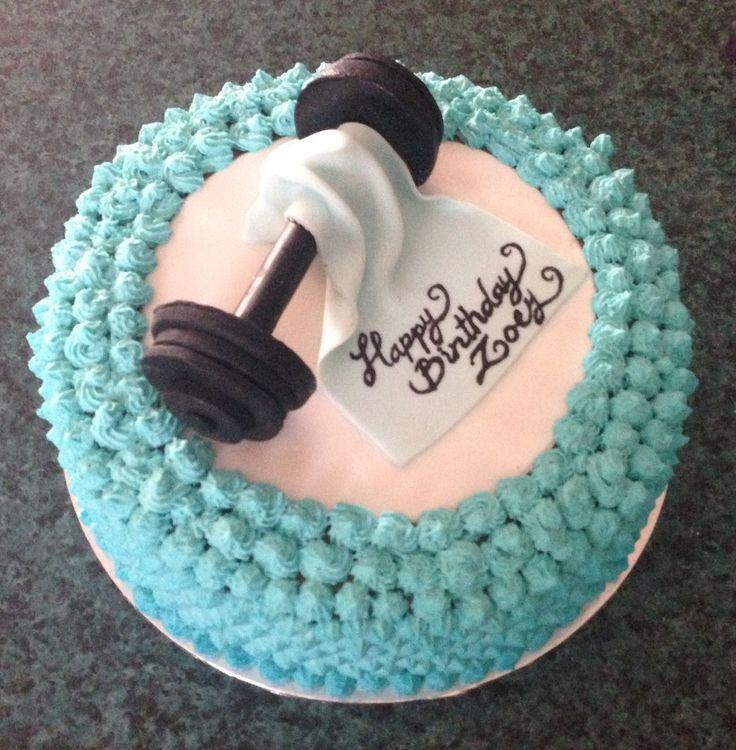 8 Funny Gym Cakes Photo Fitness Birthday Cake Cakes With Fondant