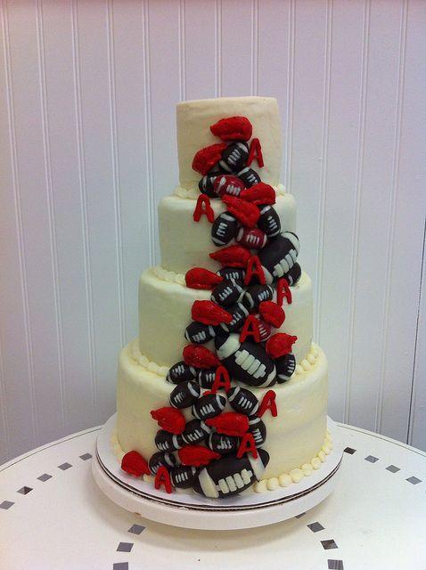 9 Arkansas Wedding Cakes Photo Football Themed Wedding Cakes